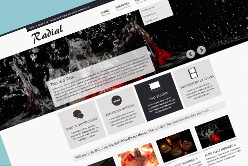 Radial Website Template