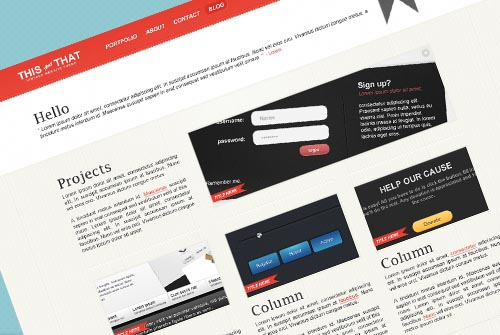 THISandTHAT: Vintage Website Template [Free PSD]