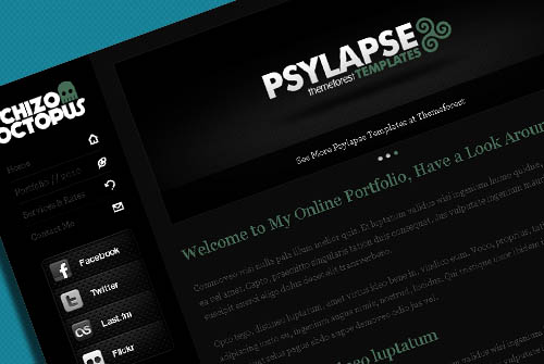 Free: Schizo Octopus - One Page Portfolio Website Template