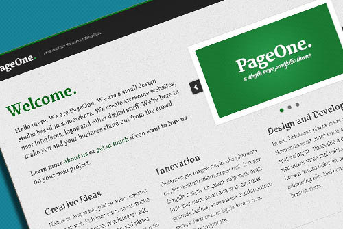 PageOne - One Page Portfolio Website Template